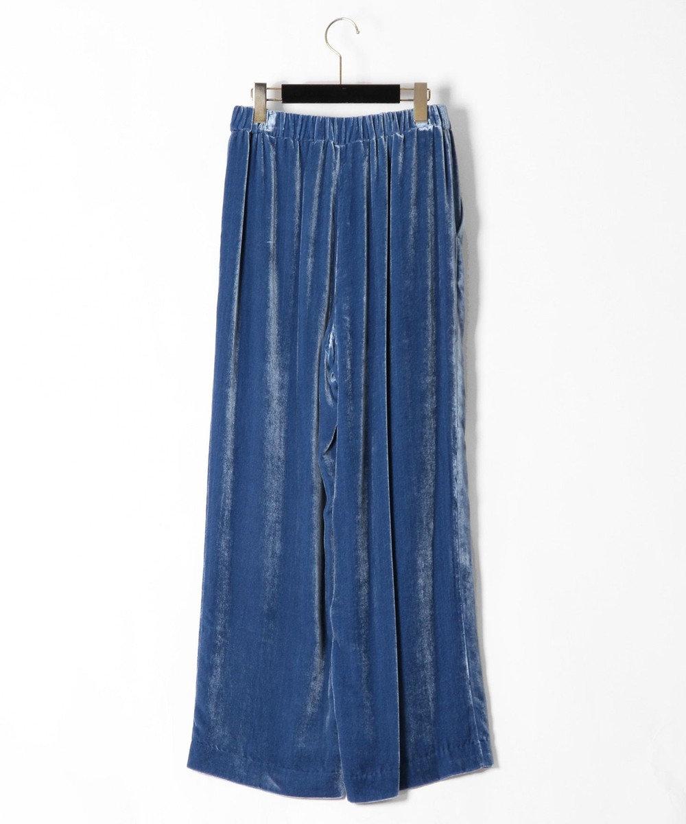 GRACE CONTINENTAL シルクベルベットパンツ ブルー