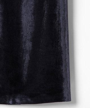GRACE CONTINENTAL ベルベットタイトスカート ネイビー