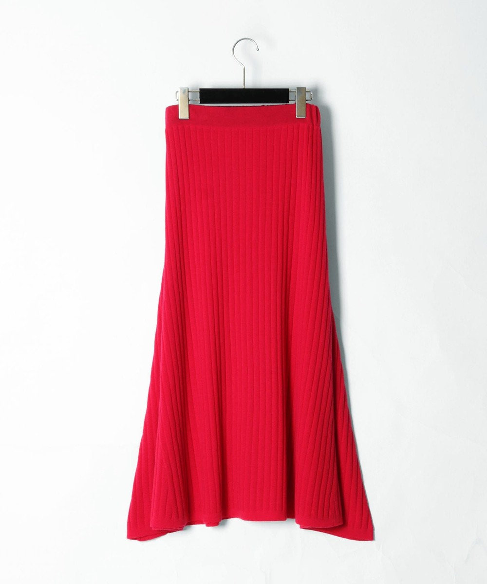 GRACE CONTINENTAL ベルト付ニットスカート ピンク