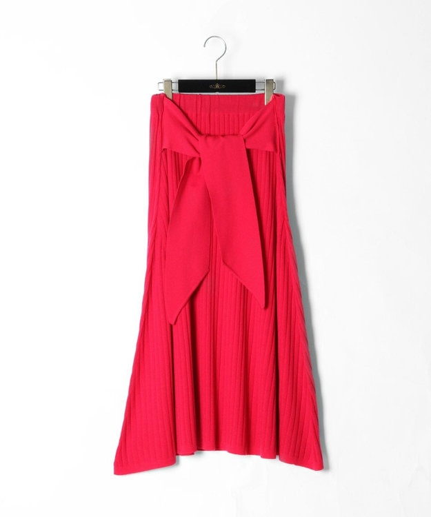 GRACE CONTINENTAL ベルト付ニットスカート