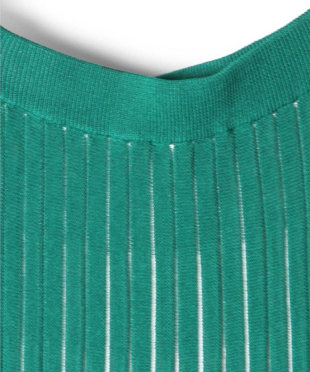 GRACE CONTINENTAL バイカラーニットスカート グリーン