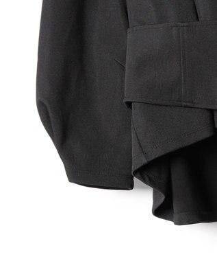 GRACE CONTINENTAL ベルト付ポンチトップ ブラック