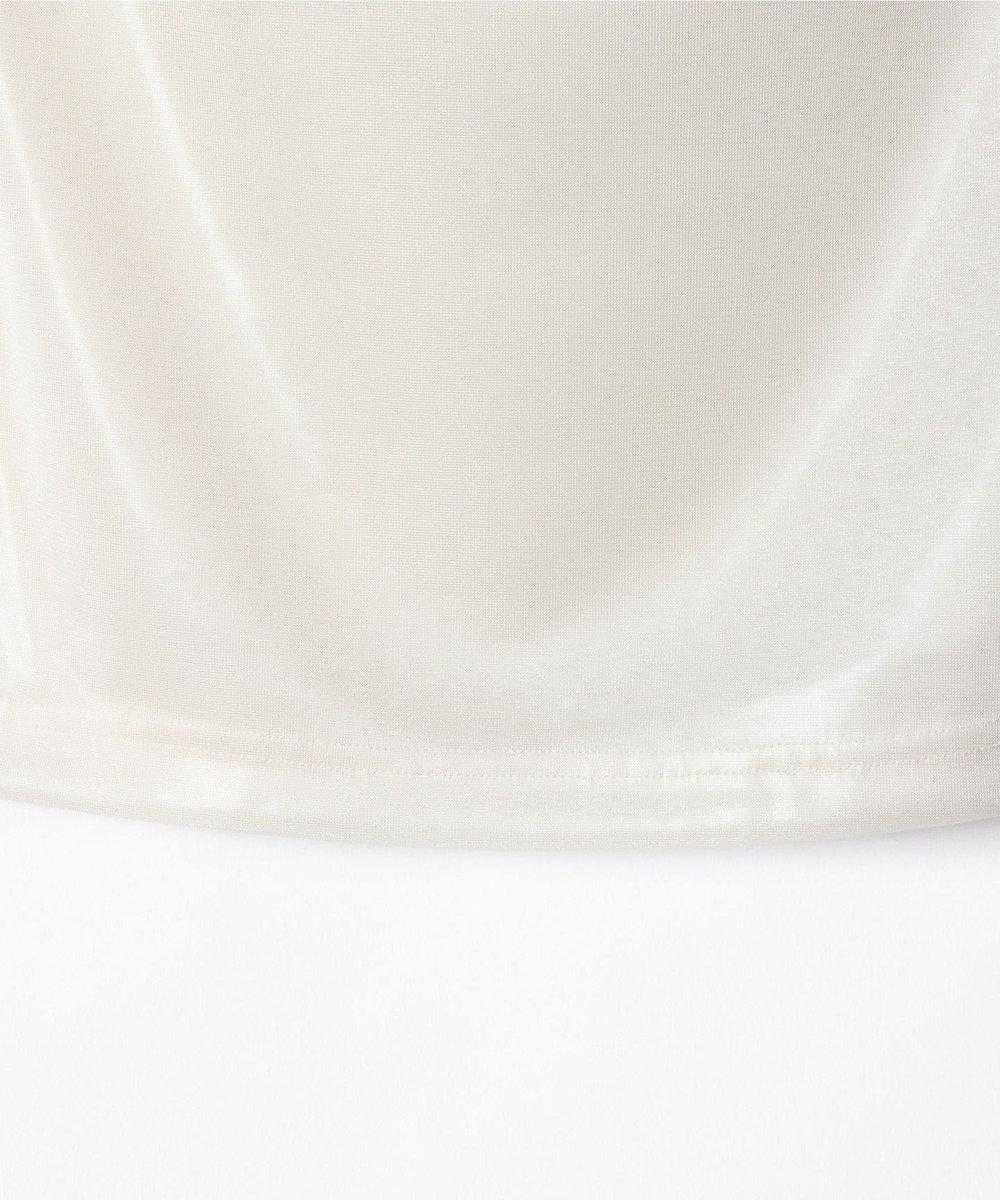 GRACE CONTINENTAL 箔プリントレースベアトップ ホワイト