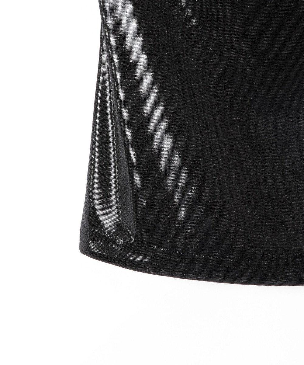 GRACE CONTINENTAL 箔プリントレースベアトップ ブラック