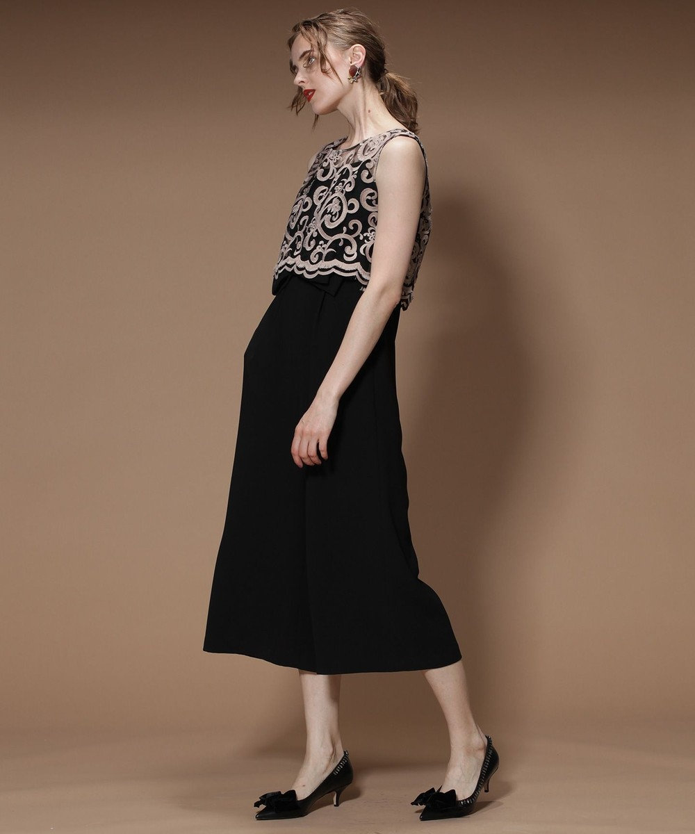 GRACE CONTINENTAL セパレート刺繍サロペット ブラック