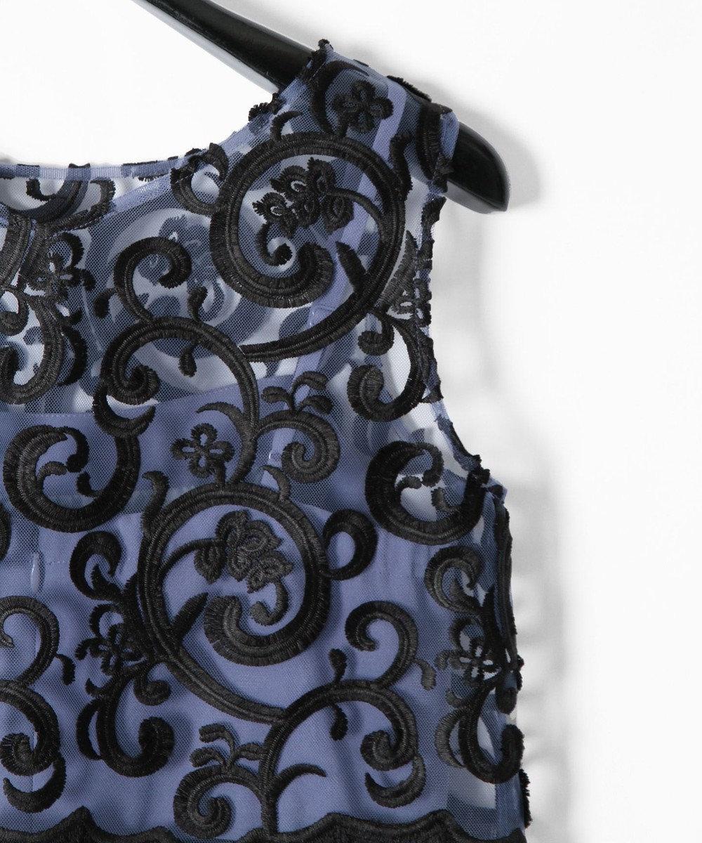 GRACE CONTINENTAL セパレート刺繍サロペット ブルー
