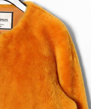GRACE CONTINENTAL ムートンFOXブルゾン2 オレンジ
