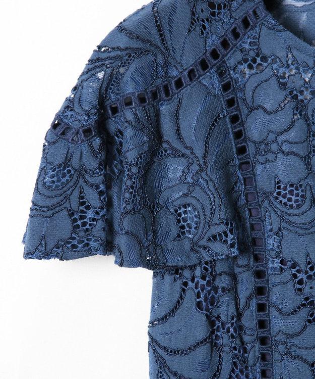 GRACE CONTINENTAL パッチワークレースドレス