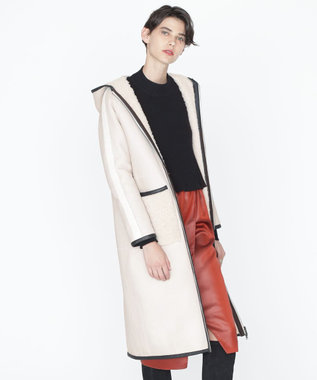 GRACE CONTINENTAL ムートンボアリバーコート キナリ