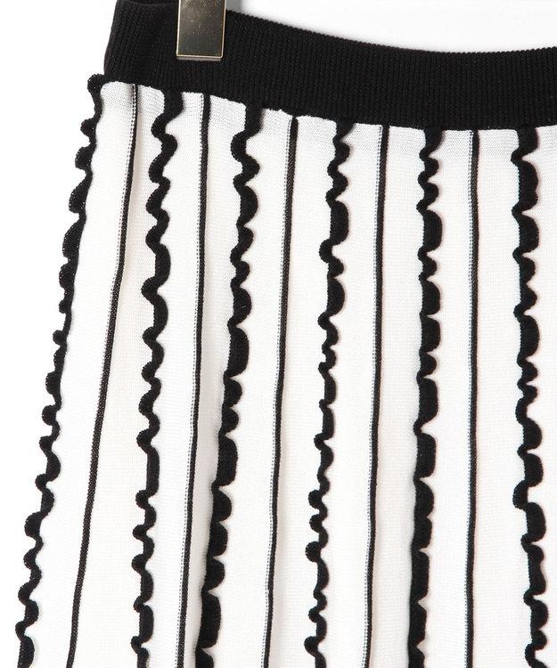 GRACE CONTINENTAL フリルラインニットスカート
