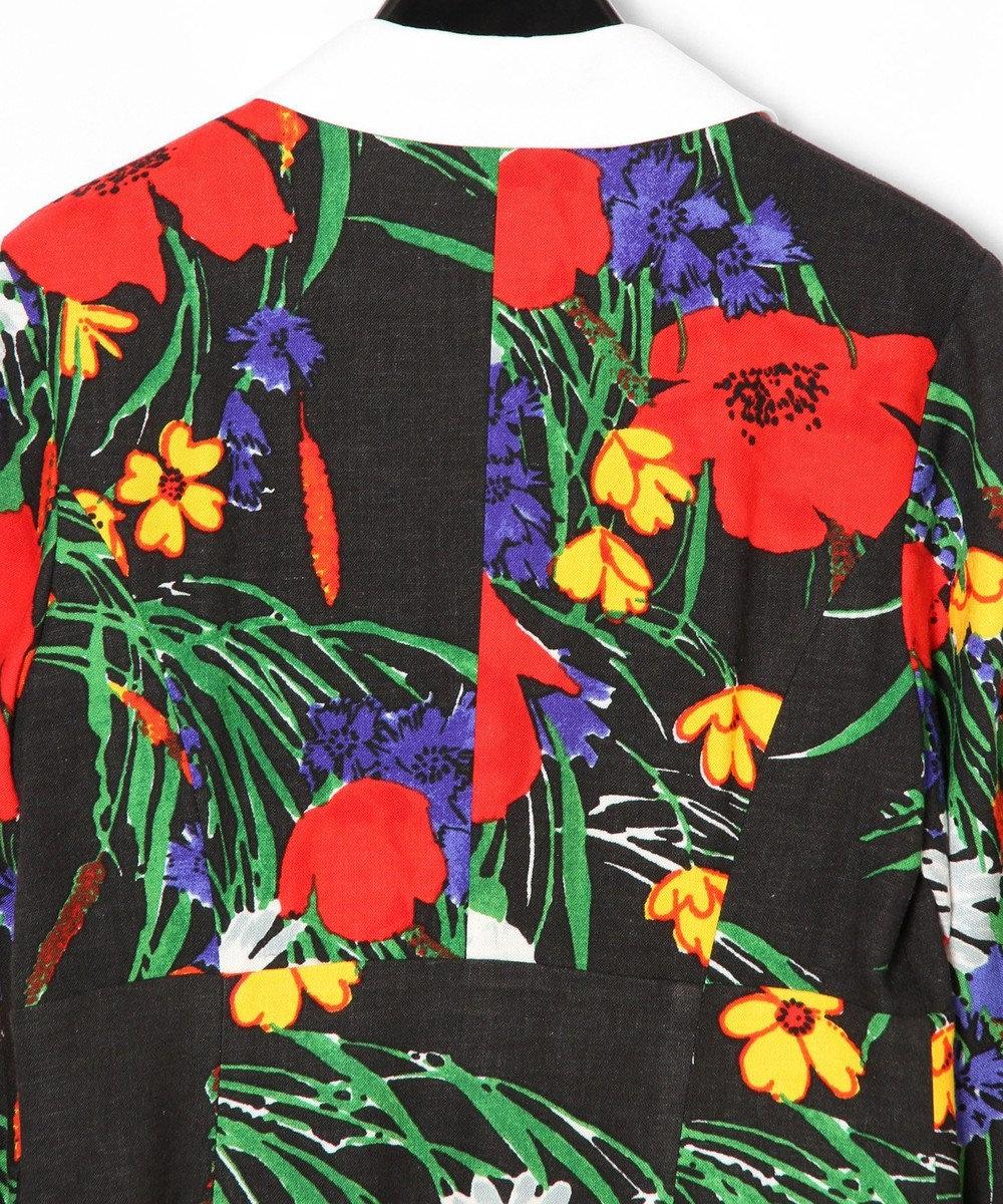 GRACE CONTINENTAL ボタニカルプリントシャツワンピース ブラック