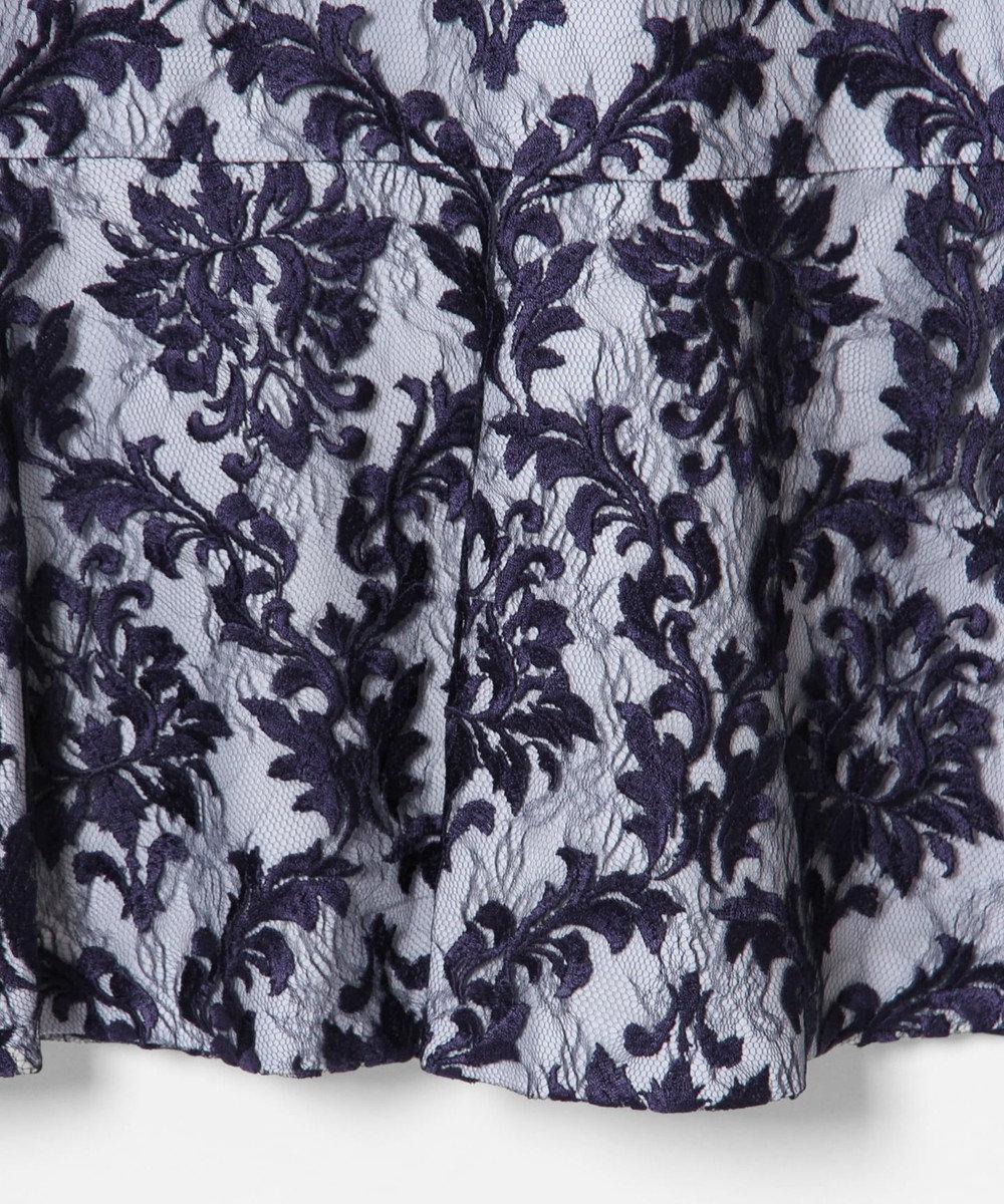 GRACE CONTINENTAL 刺繍マーメイドワンピース ネイビー