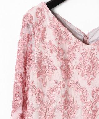 GRACE CONTINENTAL 刺繍マーメイドワンピース ピンク
