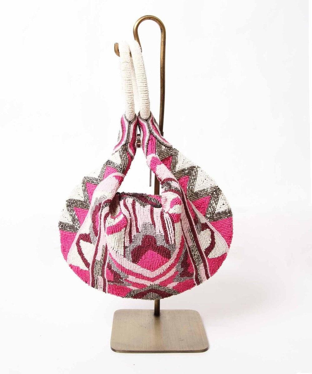 GRACE CONTINENTAL トライアングル刺繍バッグ ピンク
