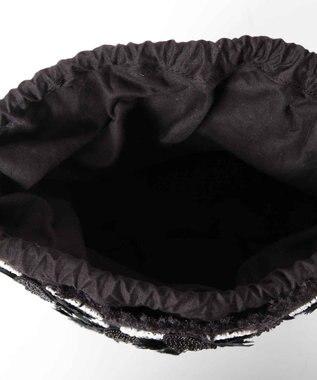 GRACE CONTINENTAL フェザーフラワーバスケット ブラック