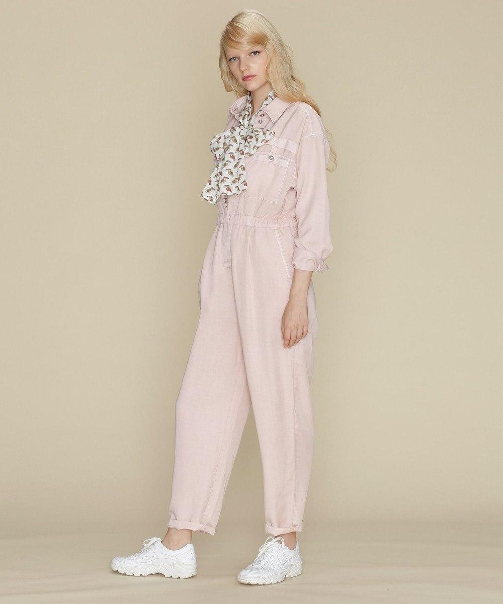 GRACE CONTINENTAL テンセルジャンプスーツ ピンク