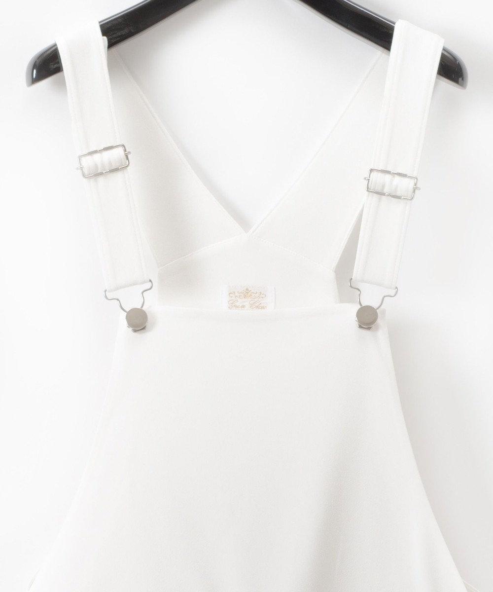 GRACE CONTINENTAL トリアセオーバーオール ホワイト