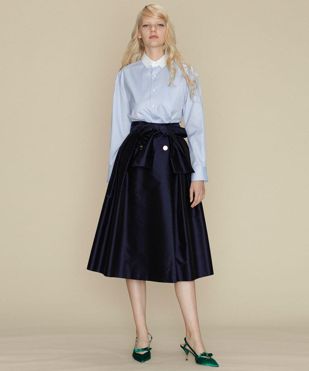 GRACE CONTINENTAL トリアセタフタラップスカート ネイビー