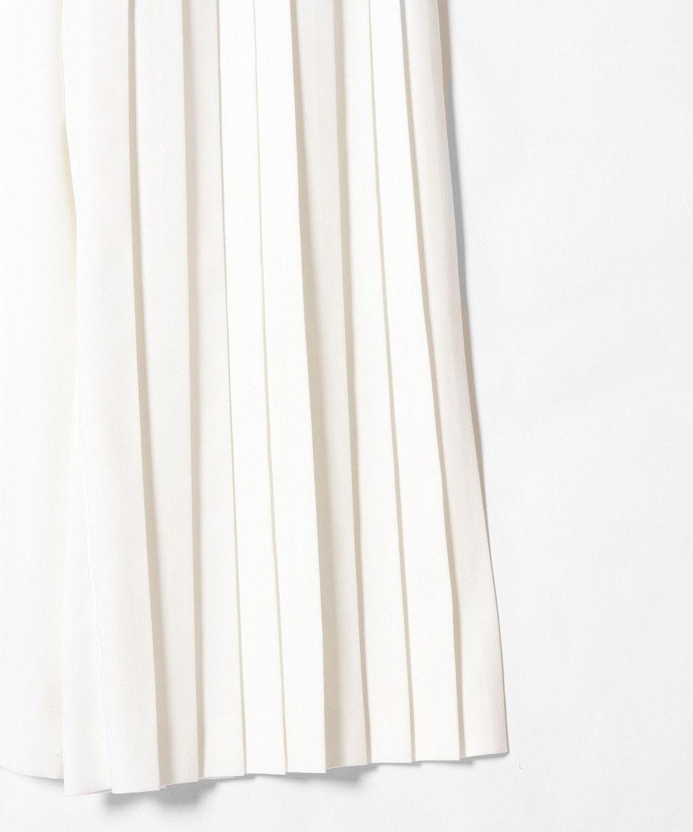 GRACE CONTINENTAL 切替プリーツパンツ ホワイト
