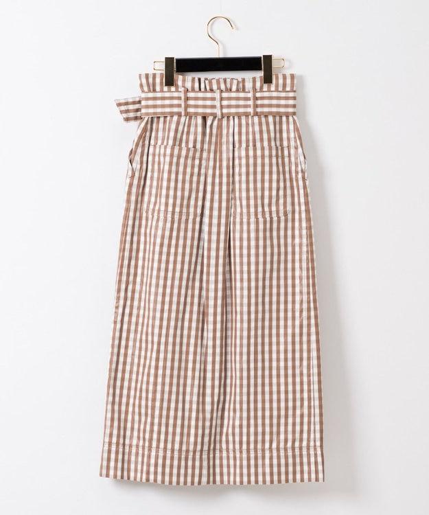 GRACE CONTINENTAL ベルト付チェックタイトスカート
