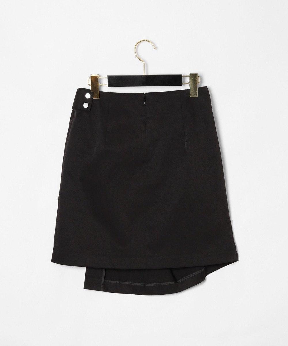 GRACE CONTINENTAL タックミニスカート ブラック