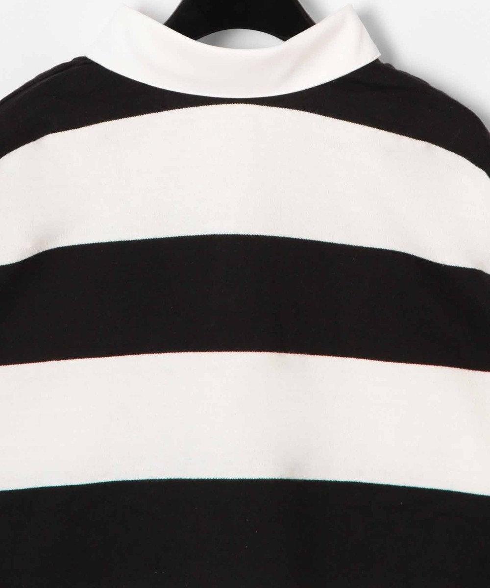 GRACE CONTINENTAL ボーダーラガーシャツトップ ブラック
