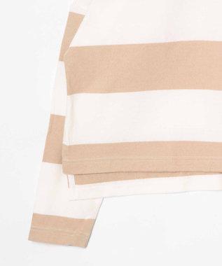 GRACE CONTINENTAL ボーダーラガーシャツトップ ベージュ