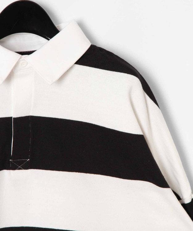 GRACE CONTINENTAL ボーダーラガーシャツトップ