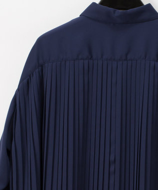GRACE CONTINENTAL バックプリーツシャツブラウス ネイビー