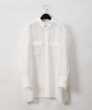 GRACE CONTINENTAL バックプリーツシャツブラウス ホワイト