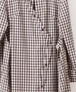 GRACE CONTINENTAL ロングシャツチュニック バイカラー