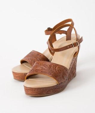 GRACE CONTINENTAL Wedge Sandal ブラウン
