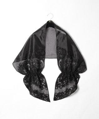 GRACE CONTINENTAL コード刺繍オーガンストール ブラック