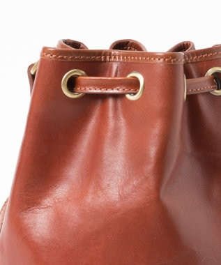 GRACE CONTINENTAL Drawstring Bag ダークブラウン