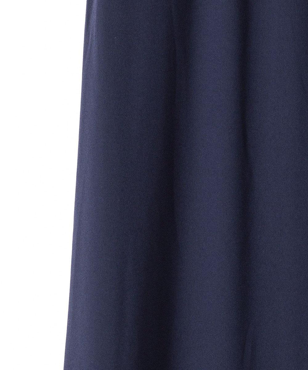 GRACE CONTINENTAL リボン配色ロングドレス ネイビー