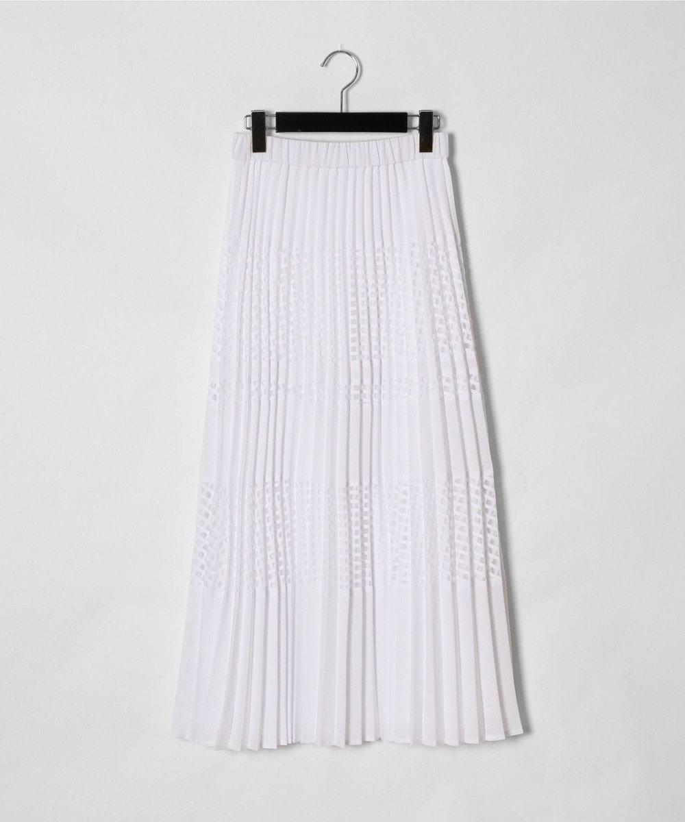 GRACE CONTINENTAL ミックスプリーツスカート ホワイト