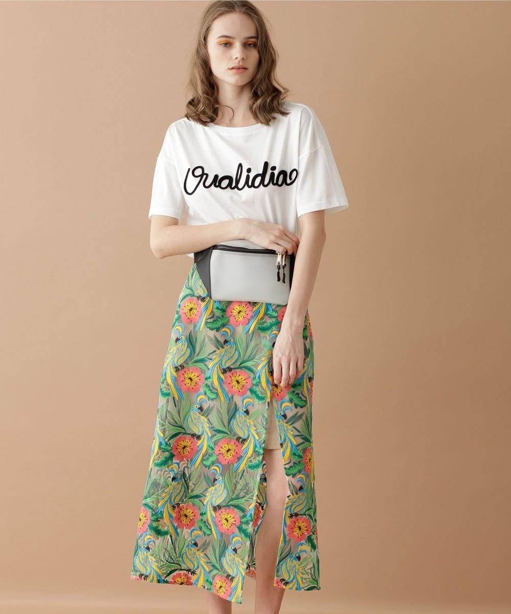 ボタニカルパロットスカート