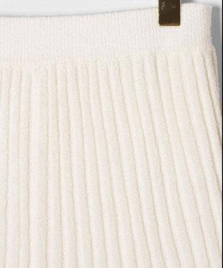 GRACE CONTINENTAL マーメイドループニットスカート ホワイト