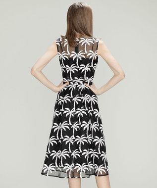 GRACE CONTINENTAL Palm tree ドレス ブラック