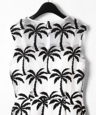 GRACE CONTINENTAL Palm tree ドレス ホワイト