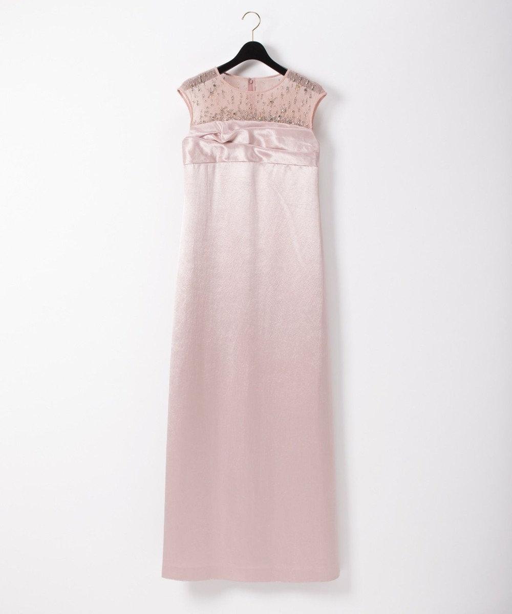 GRACE CONTINENTAL サテンロングドレス ピンク