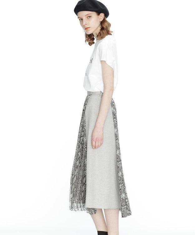 GRACE CONTINENTAL パイソンプリントプリーツスカート