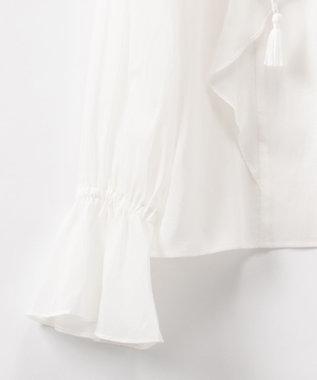 GRACE CONTINENTAL ラッフルカフタントップ ホワイト