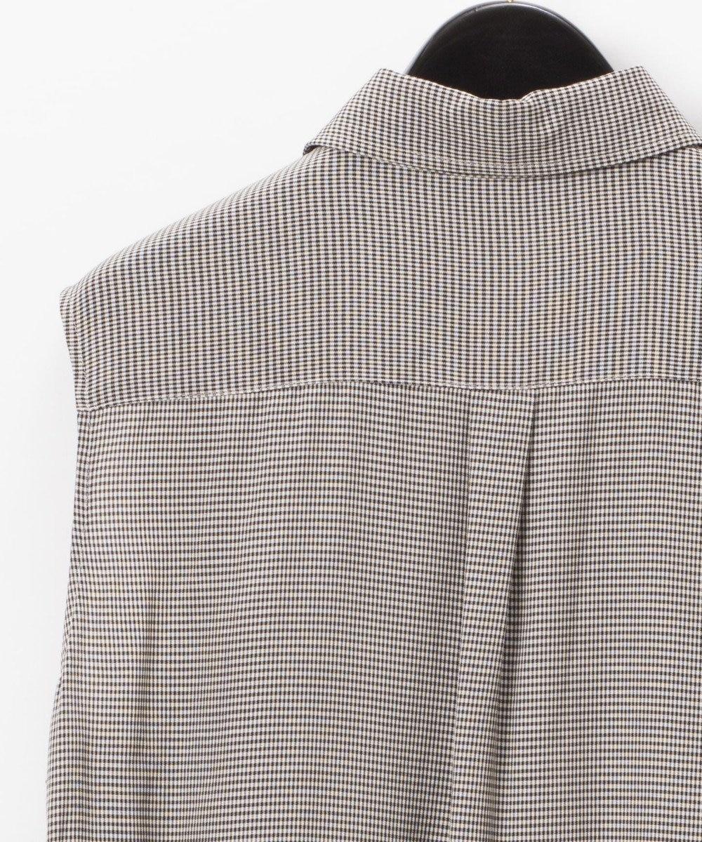GRACE CONTINENTAL サイドレースアップシャツブラウス グレー