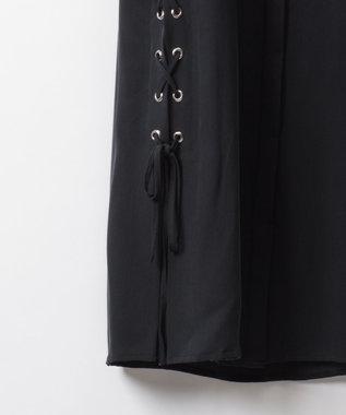 GRACE CONTINENTAL サイドレースアップシャツブラウス ブラック