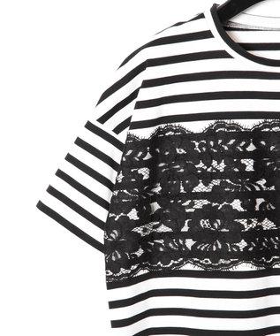 GRACE CONTINENTAL リバーレースTシャツ ブラック