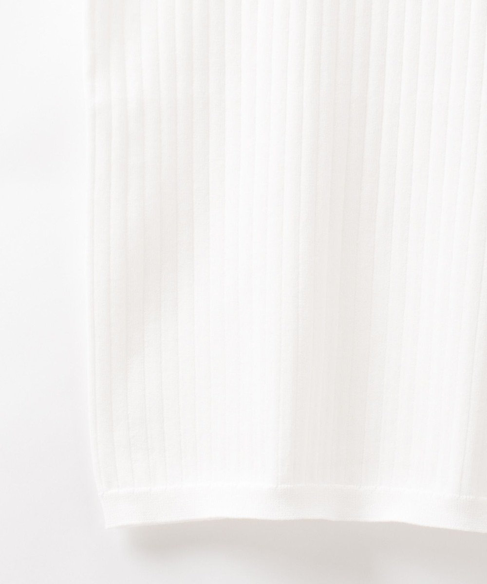GRACE CONTINENTAL ハイネックリブニットノースリーブ ホワイト