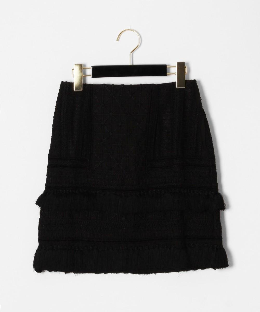タッセル刺繍ミニスカート