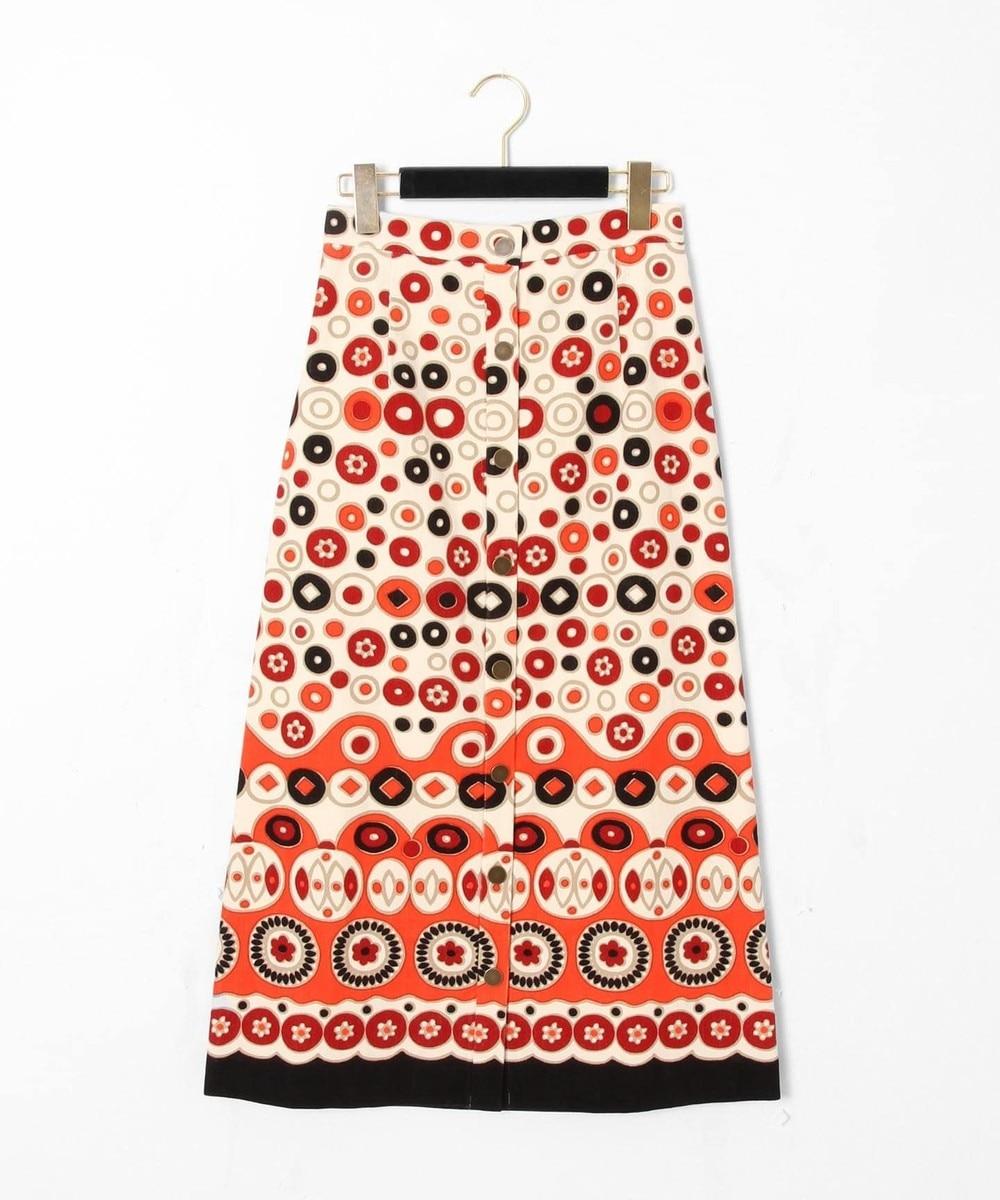 コーデュロイプリントスカート