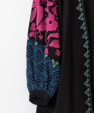 GRACE CONTINENTAL 刺繍チュニックトップ ブラック
